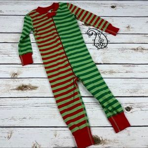 Hanna Andersson Sleeper Pajamas Christmas Striped